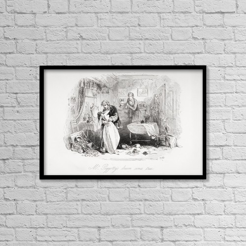 """Printscapes Wall Art: 18"""" x 12"""" Canvas Print With Black Frame - Mr by Ken Welsh"""