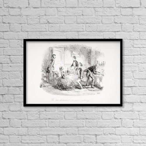 """Printscapes Wall Art: 18"""" x 12"""" Canvas Print With Black Frame - We Are Disturbed In Our Cookery by Ken Welsh"""