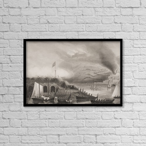"Printscapes Wall Art: 18"" x 12"" Canvas Print With Black Frame - The Storming Of San Sebastian, 31St August 1813 by Ken Welsh"