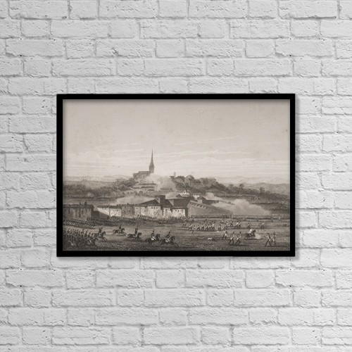"Printscapes Wall Art: 18"" x 12"" Canvas Print With Black Frame - Battle Of Montebello, 9Th June 1800 by Ken Welsh"