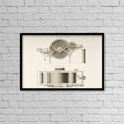 """Printscapes Wall Art: 18"""" x 12"""" Canvas Print With Black Frame - Industry by Ken Welsh"""