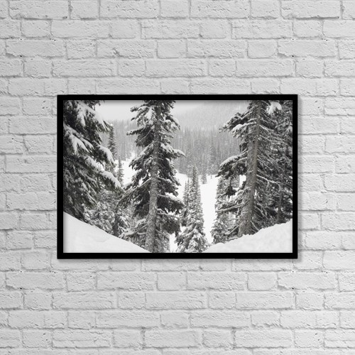 """Printscapes Wall Art: 18"""" x 12"""" Canvas Print With Black Frame - Nature by Keith Levit"""