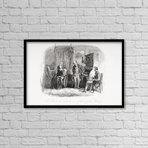 "Printscapes Wall Art: 18"" x 12"" Canvas Print With Black Frame - From The Charles Dickens Novel Little Dorrit by Ken Welsh"