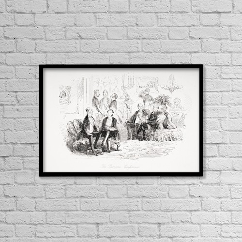 """Printscapes Wall Art: 18"""" x 12"""" Canvas Print With Black Frame - From The Charles Dickens Novel Little Dorrit by Ken Welsh"""