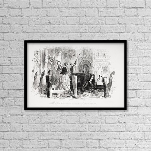 "Printscapes Wall Art: 18"" x 12"" Canvas Print With Black Frame - Mr by Ken Welsh"