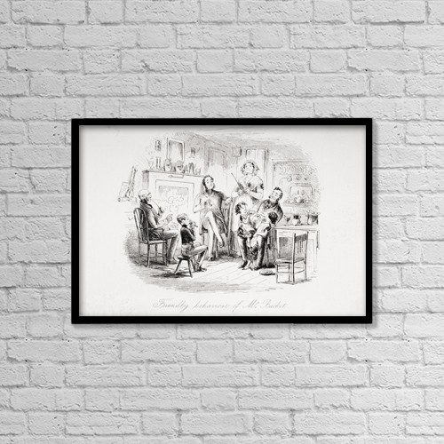 "Printscapes Wall Art: 18"" x 12"" Canvas Print With Black Frame - Friendly Behaviour Of Mr by Ken Welsh"