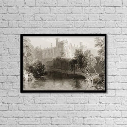 "Printscapes Wall Art: 18"" x 12"" Canvas Print With Black Frame - Kilkenny Castle,Kilkenny, Ireland by Ken Welsh"