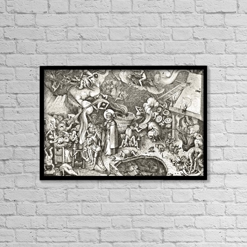 "Printscapes Wall Art: 18"" x 12"" Canvas Print With Black Frame - The Sabbath by Ken Welsh"
