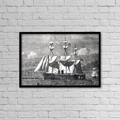 "Printscapes Wall Art: 18"" x 12"" Canvas Print With Black Frame - Transportation by Ken Welsh"