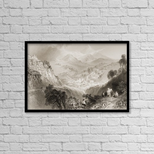 "Printscapes Wall Art: 18"" x 12"" Canvas Print With Black Frame - Enniskerry, Near Dublin, Ireland by Ken Welsh"