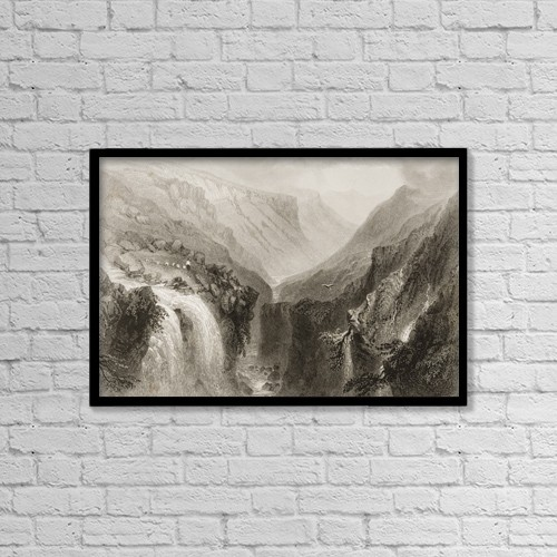 """Printscapes Wall Art: 18"""" x 12"""" Canvas Print With Black Frame - Head Of Glenmalure, County Wicklow, Ireland by Ken Welsh"""