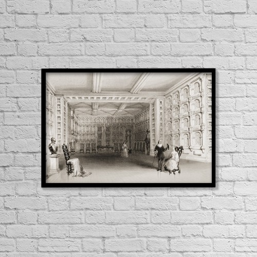 "Printscapes Wall Art: 18"" x 12"" Canvas Print With Black Frame - Architectural Interior by Ken Welsh"