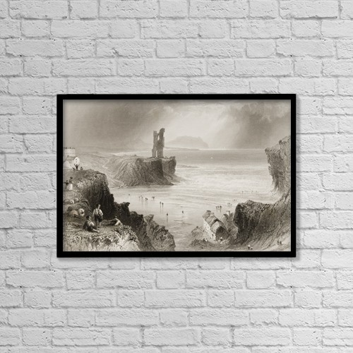 "Printscapes Wall Art: 18"" x 12"" Canvas Print With Black Frame - Ballybunian,County Kerry, Ireland by Ken Welsh"