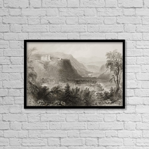 "Printscapes Wall Art: 18"" x 12"" Canvas Print With Black Frame - Castle Howard, Vale Of Ovoca, Ireland by Ken Welsh"