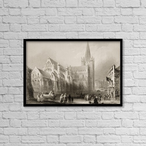"Printscapes Wall Art: 18"" x 12"" Canvas Print With Black Frame - St by Ken Welsh"