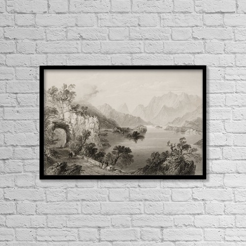 """Printscapes Wall Art: 18"""" x 12"""" Canvas Print With Black Frame - Upper Lake, Killarney, County Kerry, Ireland by Ken Welsh"""
