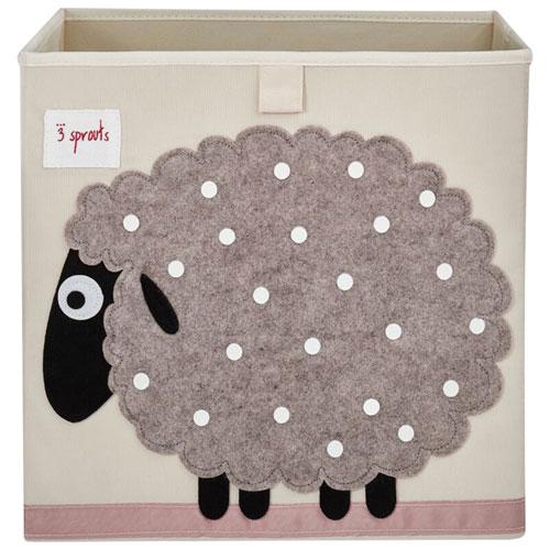 3 Sprouts Storage Box   Sheep   Beige