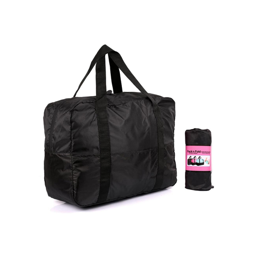 a177757a5c0 Pack n Fold Foldable Lightweight Water-resistant Duffel Bag Black   Duffle  Bags - Best Buy Canada