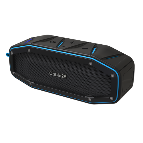 Bluetooth Speaker With Portable & Rugged Design by Cable29 (Blue)
