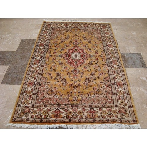 Awesome Love Sun Floral Oriental Area Rug Hand Knotted Wool Silk Carpet'
