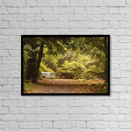 """Printscapes Wall Art: 18"""" x 12"""" Canvas Print With Black Frame - Northumberland, England by John Short"""
