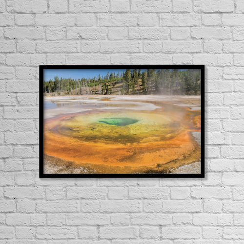 "Printscapes Wall Art: 18"" x 12"" Canvas Print With Black Frame - Nature by Philippe Widling"
