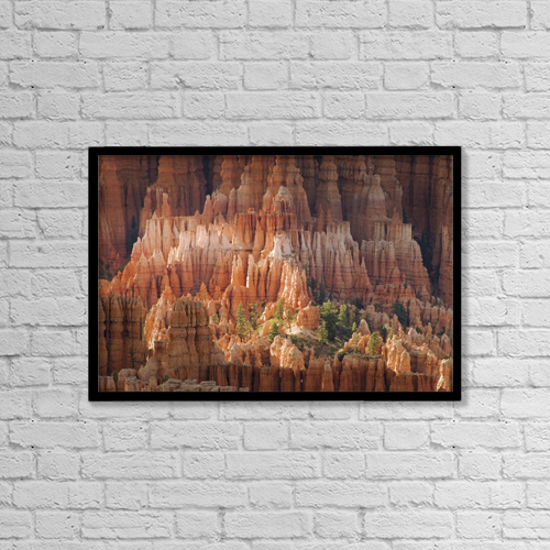 "Printscapes Wall Art: 18"" x 12"" Canvas Print With Black Frame - Needle Rock Formations by Philippe Widling"