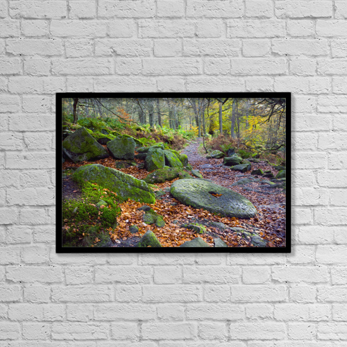 "Printscapes Wall Art: 18"" x 12"" Canvas Print With Black Frame - Other by John Doornkamp"
