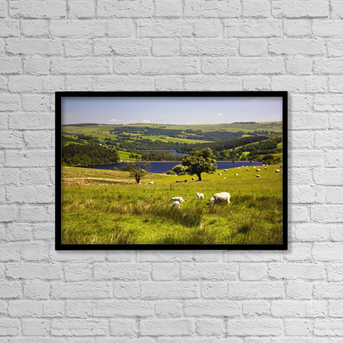 "Printscapes Wall Art: 18"" x 12"" Canvas Print With Black Frame - Sheffield, South Yorkshire, England by John Doornkamp"