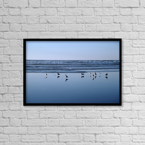 "Printscapes Wall Art: 18"" x 12"" Canvas Print With Black Frame - Animals by David Ponton"