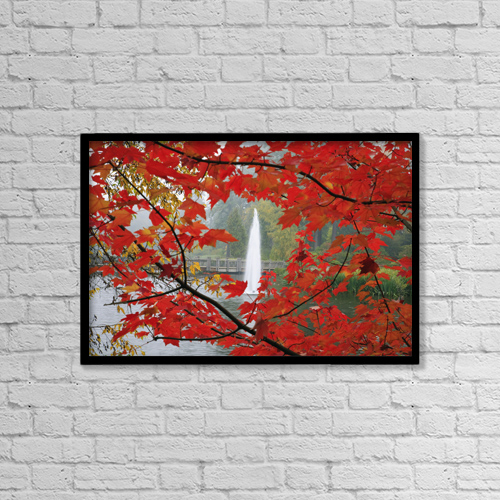 "Printscapes Wall Art: 18"" x 12"" Canvas Print With Black Frame - Autumn Leaves by Craig Tuttle"