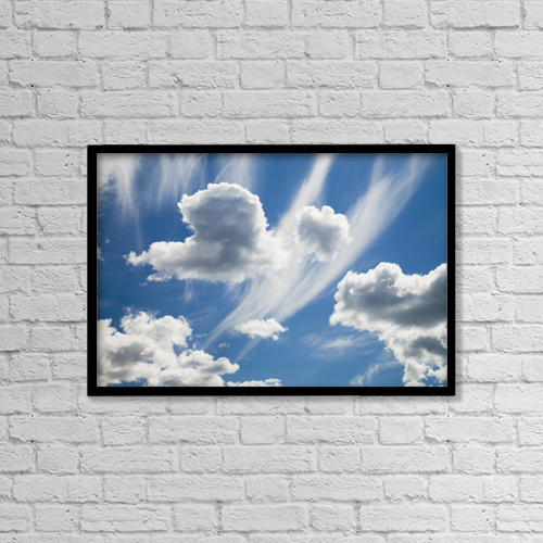 "Printscapes Wall Art: 18"" x 12"" Canvas Print With Black Frame - Clouds by Sean White"