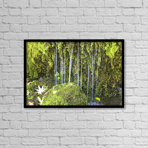 "Printscapes Wall Art: 18"" x 12"" Canvas Print With Black Frame - Oregon Cascades, Oregon, Usa by Craig Tuttle"