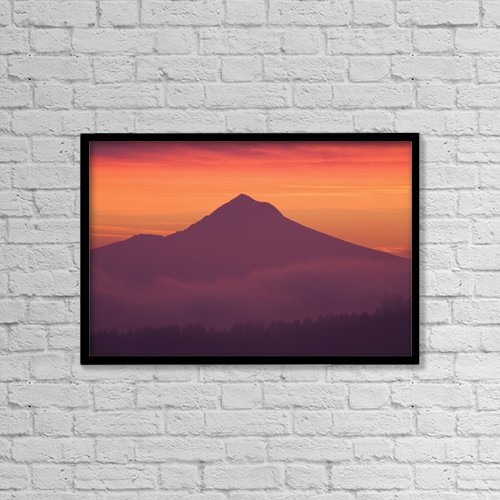 "Printscapes Wall Art: 18"" x 12"" Canvas Print With Black Frame - Mountain by Craig Tuttle"