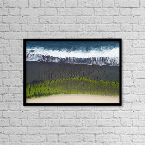 """Printscapes Wall Art: 18"""" x 12"""" Canvas Print With Black Frame - Scenic by Sean White"""