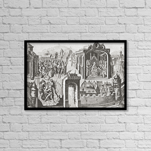 """Printscapes Wall Art: 18"""" x 12"""" Canvas Print With Black Frame - Imaginary Election Of St by Ken Welsh"""