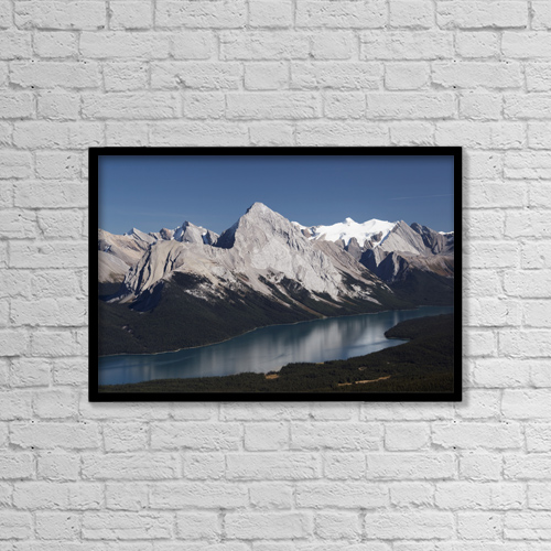 "Printscapes Wall Art: 18"" x 12"" Canvas Print With Black Frame - Jasper National Park, Alberta, Canada by Michael Interisano"