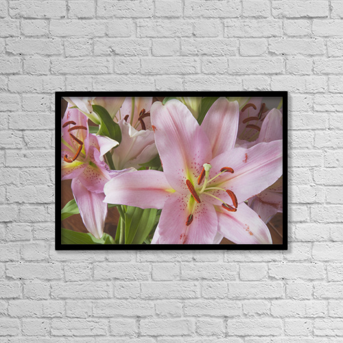 "Printscapes Wall Art: 18"" x 12"" Canvas Print With Black Frame - Asiatic Lily by Michael Interisano"