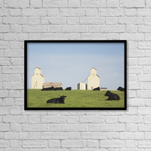 "Printscapes Wall Art: 18"" x 12"" Canvas Print With Black Frame - Moseleigh, Alberta, Canada by Michael Interisano"