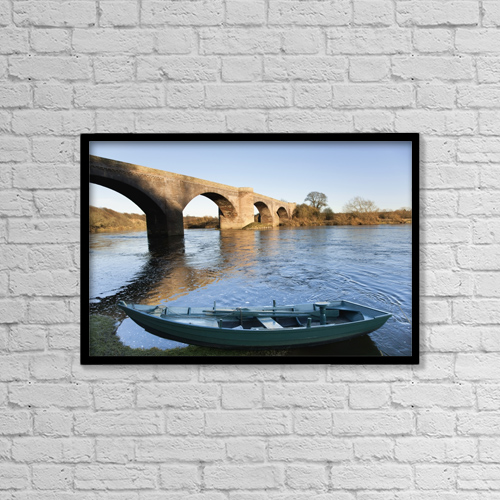 "Printscapes Wall Art: 18"" x 12"" Canvas Print With Black Frame - Northumberland, England by John Short"