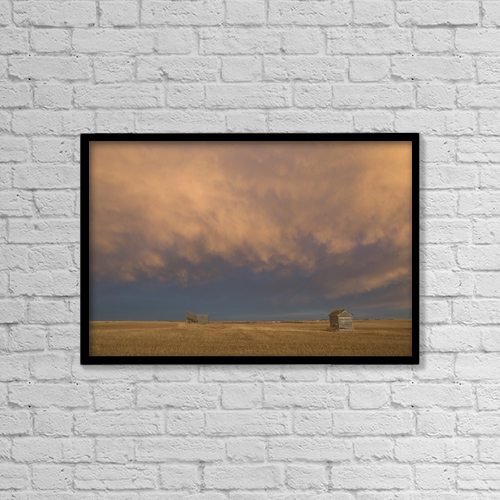 "Printscapes Wall Art: 18"" x 12"" Canvas Print With Black Frame - Alberta, Canada by Michael Interisano"
