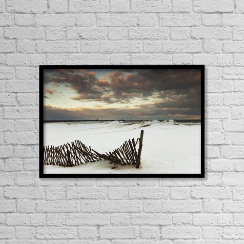 """Printscapes Wall Art: 18"""" x 12"""" Canvas Print With Black Frame - South Shields, Tyne And Wear, England by John Short"""