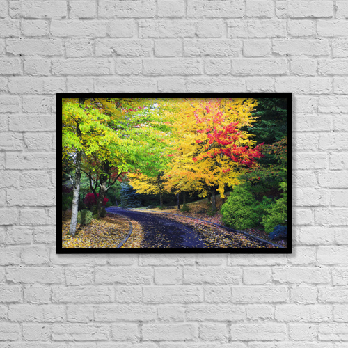 """Printscapes Wall Art: 18"""" x 12"""" Canvas Print With Black Frame - Oregon, United States Of America by Craig Tuttle"""