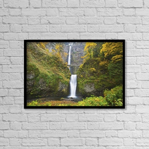 "Printscapes Wall Art: 18"" x 12"" Canvas Print With Black Frame - Nature by Craig Tuttle"