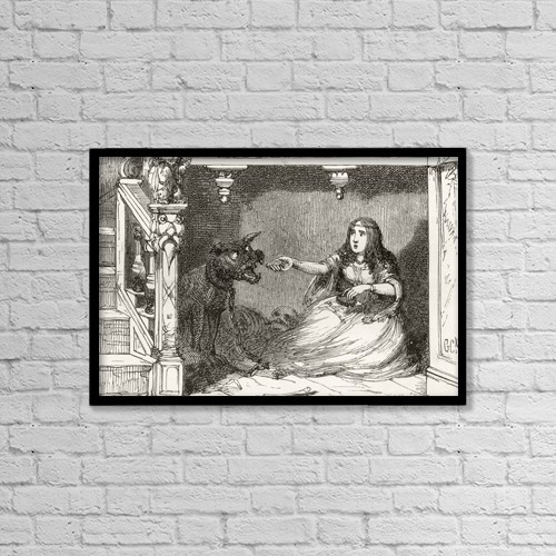 "Printscapes Wall Art: 18"" x 12"" Canvas Print With Black Frame - She Has Given Him A Bun And A Roll by Ken Welsh"