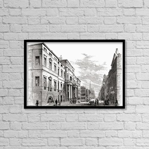 "Printscapes Wall Art: 18"" x 12"" Canvas Print With Black Frame - Edinburgh University, Scotland by Ken Welsh"