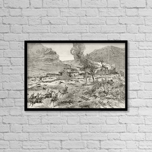 "Printscapes Wall Art: 18"" x 12"" Canvas Print With Black Frame - Travel by Ken Welsh"