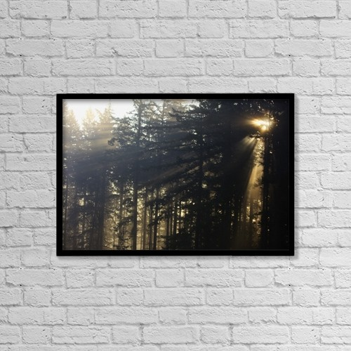 """Printscapes Wall Art: 18"""" x 12"""" Canvas Print With Black Frame - Weather by Craig Tuttle"""