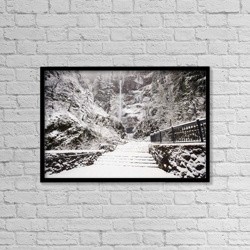 """Printscapes Wall Art: 18"""" x 12"""" Canvas Print With Black Frame - Travel by Craig Tuttle"""