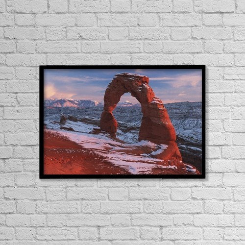 "Printscapes Wall Art: 18"" x 12"" Canvas Print With Black Frame - Nature by Natural Selection Robert Cable"